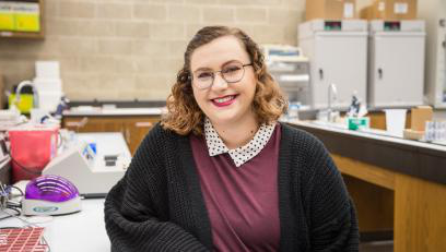RIkki Rosenthal in Boyer Hall lab